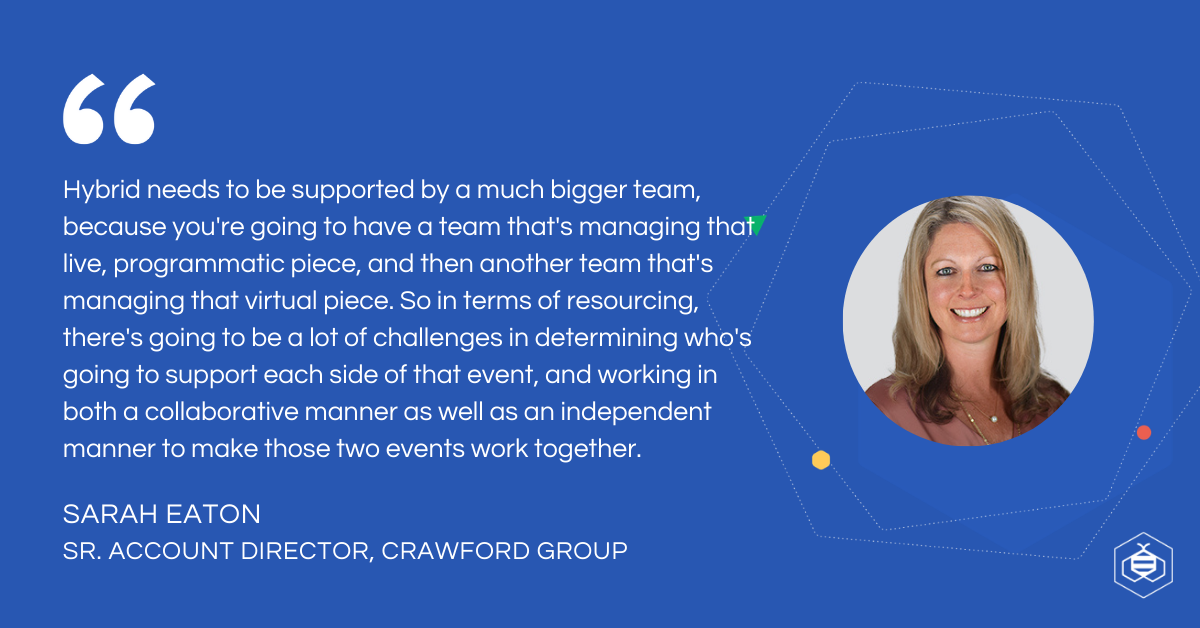 Sarah Eaton quote on hybrid events