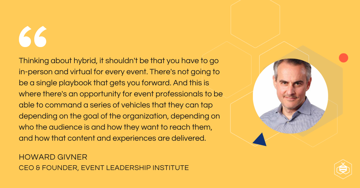 Howard Givner quote on hybrid events